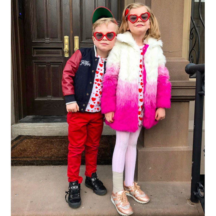"Gideon and Harper Burtka-Harris got into the Valentine's Day spirit sporting heart printed tops and heart-shaped glasses. ""Happy Valentine's Day from these two bundles of love! #cupids,"" Neil Patrick Harris captioned the adorable shot.