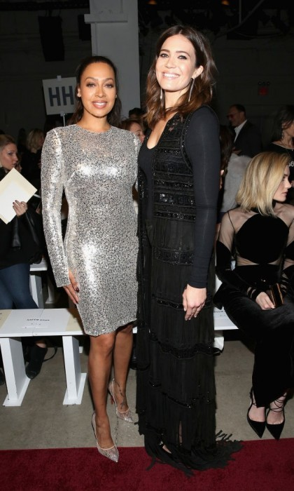 Mandy Moore and La La Anthony sparkled at Naeem Khan.