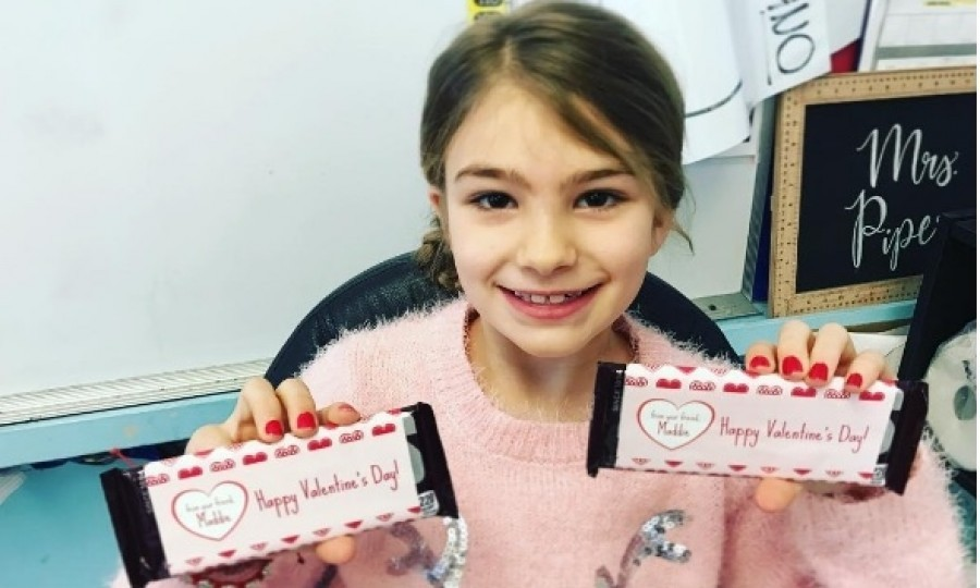 "Though she isn't quite cleared to return to school, Jamie Lynn Spears' daughter Maddie was able to surprise her classmates with her Valentine's Day gifts. Jamie Lynn posted this photo on Instagram showing her daughter's big smile. She wrote: ""... It made her so happy to see her friends, and be able to give them such cute treats. It was a great moment for us after everything that has happened. We are so thankful to celebrate Valentine's Day with the ones we love, and we don't take a second of it for granted ❤️Happy Valentine's Day❤️""