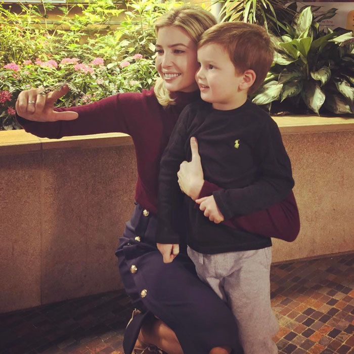"It was an afternoon at the museum for the first daughter and her son. ""Exploring the wonders of the @smithsonian National Museum of Natural History,"" Ivanka captioned a photo of herself and Joseph admiring a butterfly at the D.C. museum.