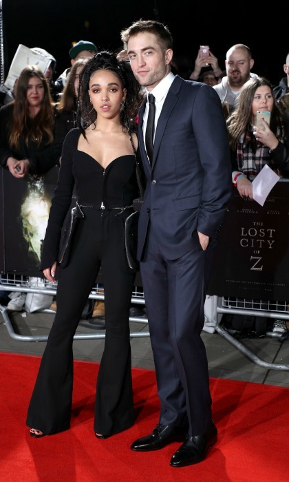 February 16: Robert Pattinson and FKA Twigs were two stylish lovebirds during <i>The Lost City of Z</i> premiere in London. 