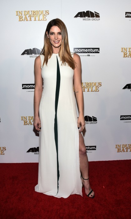 February 15: Ashley Greene showed a little leg during the <i>In Dubious Battle</i> premiere in Hollywood. 
