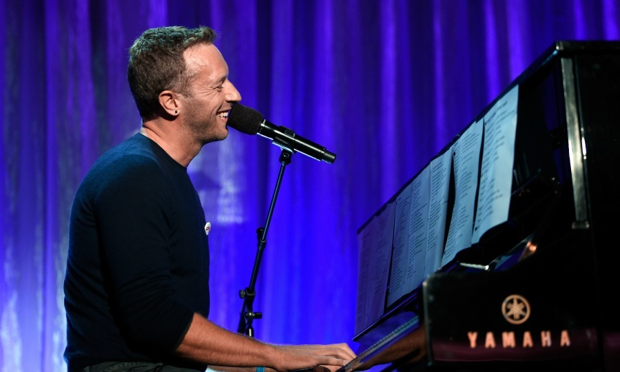 February 16: Chris Martin took the stage during the WCRF's An Unforgettable Evening presented by Saks Fifth Avenue in Beverly Hills. 