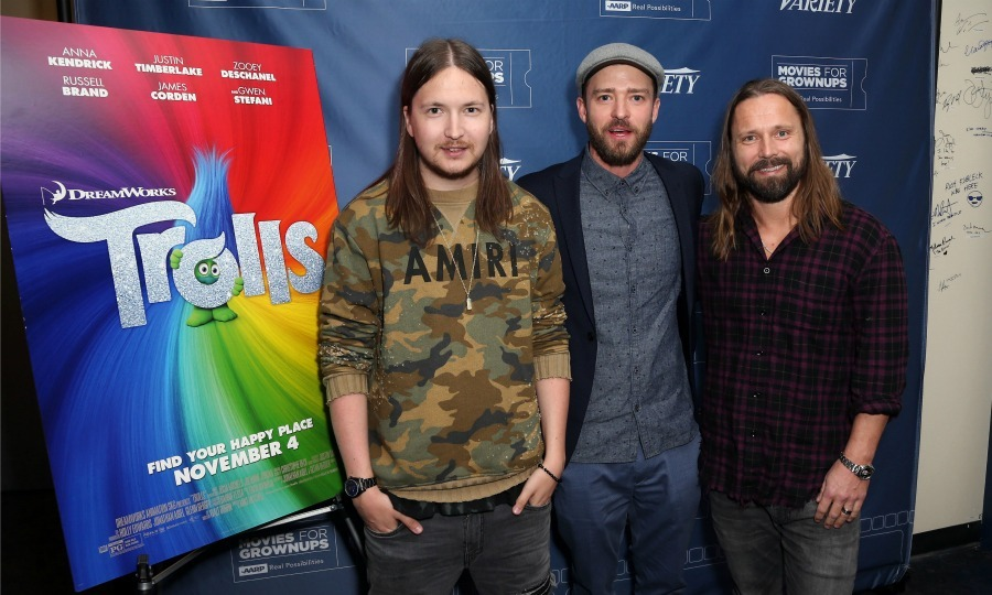 "February 16: <a href=""http://us.hellomagazine.com/tags/1/justin-timberlake/""><strong>Justin Timberlake</strong></a>, and <i>Trolls</i> soundtrack producers Shellback and Max Martin attended a special Variety and AARP Movies for Grownups screening in L.A. 