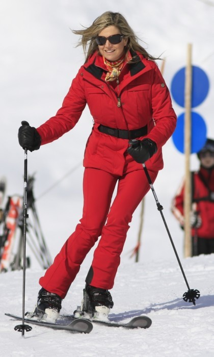 Queen Máxima showed off her impressive skiing skills while in Austria.