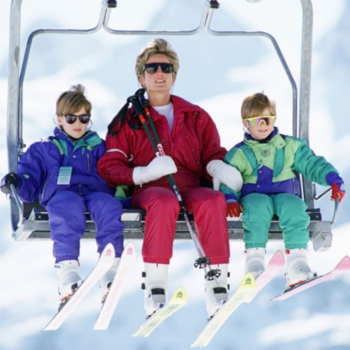 Prince William and Prince Harry have a long history on the slopes. Pictured here, their mother, Princess Diana, took them on a holiday to Austria in 1991.