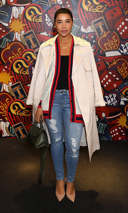 Hannah Bronfman was on hand for the launch of the  Spring 2017 Tommy x Gigi capsule collection at the Tommy Hilfiger flagship store.