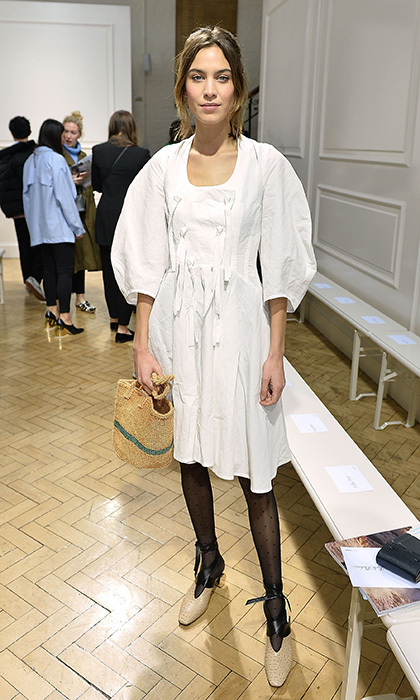 Alexa Chung took a front row seat at designer J.W. Anderson's runway presentation.