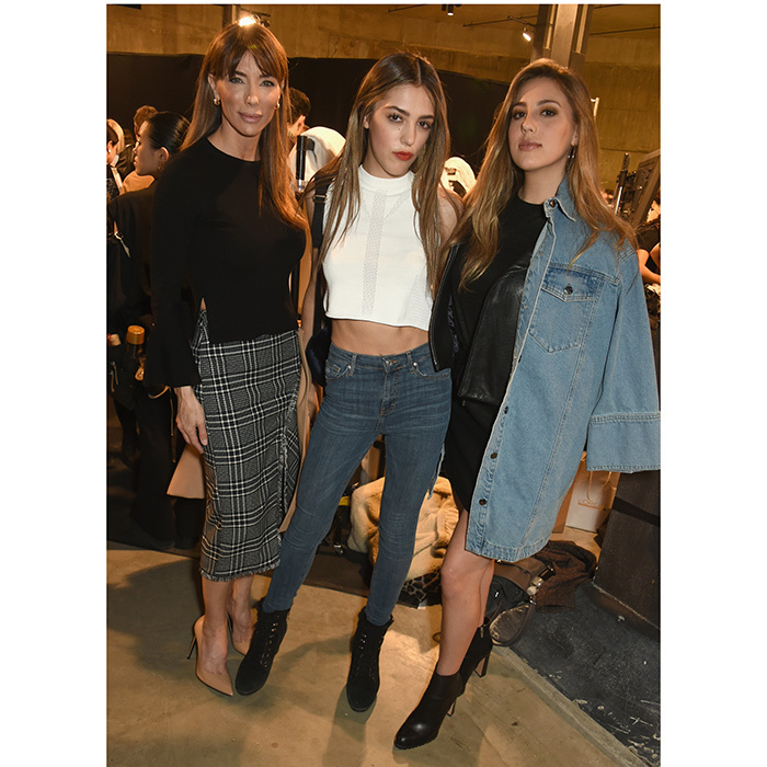 Fresh from their appearance as Miss Golden Globes, sisters Sistine and Sophia Stallone were joined by mom Jennifer Flavin Stallone at Topshop's London Fashion Week presentation at Tate Modern.