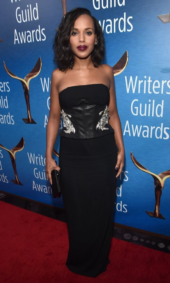 February 19: On the West Coast, new mom Kerry Washington stepped out for the 2017 Writers Guild Awards L.A. Ceremony at The Beverly Hilton Hotel.
