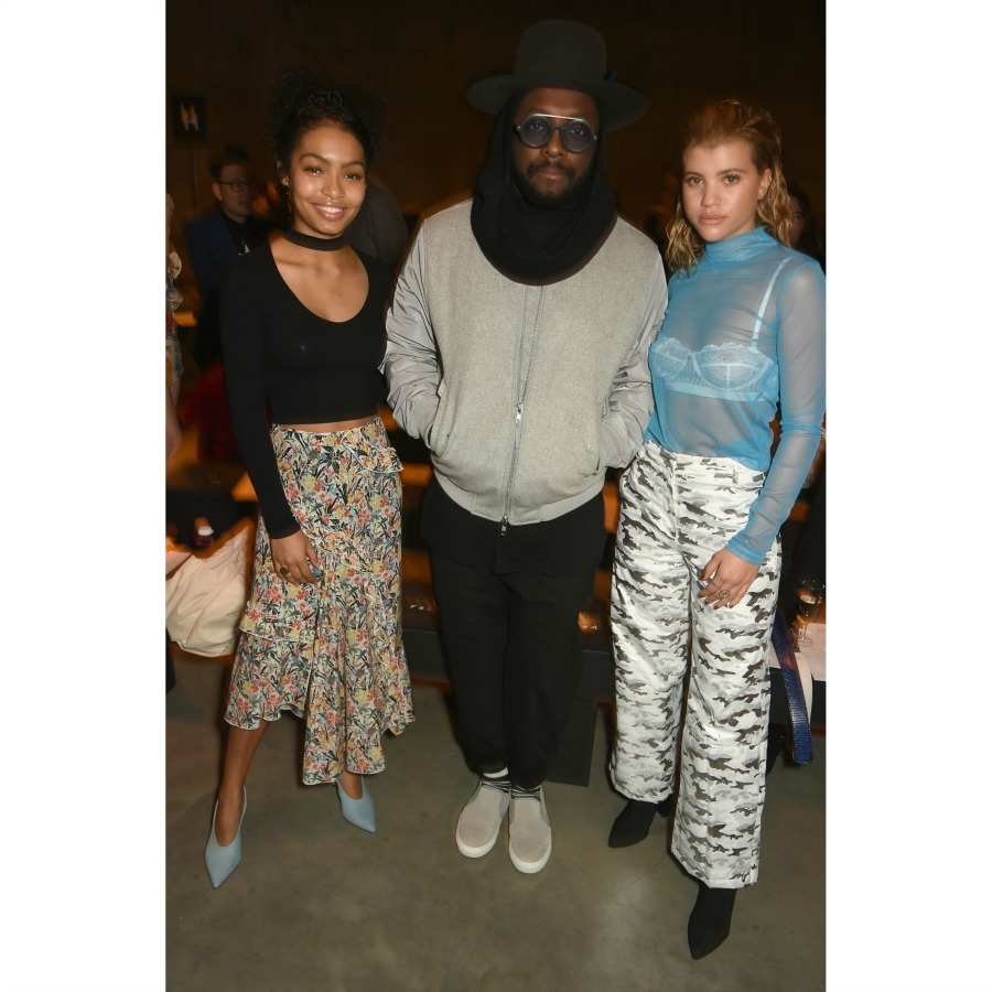 Yara Shahidi, WILL.I.AM and Sofia Richie worked the front row in style during Topshop's runway show. 