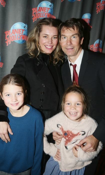 February 19: Rebecca Romijn, Jerry O'Connell and their two daughters, Dolly and Charlie had a fun night Planet Hollywood after seeing <i>Crazy For You</i> in NYC.