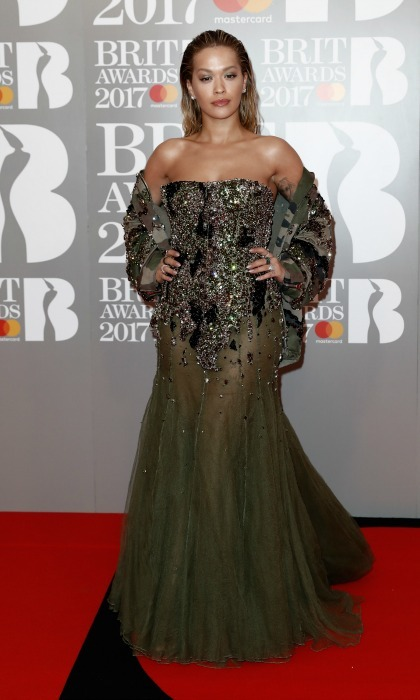 February 22: Rita Ora made her grand entrance at the 2017 BRIT Awards in an Alexandre Vauthier dress and shoes paired perfectly with Lorraine Schwartz jewels.