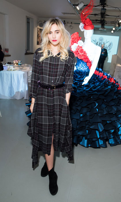 Suki Waterhouse celebrated Milan Fashion Week with British Airways at an exclusive afternoon tea party.