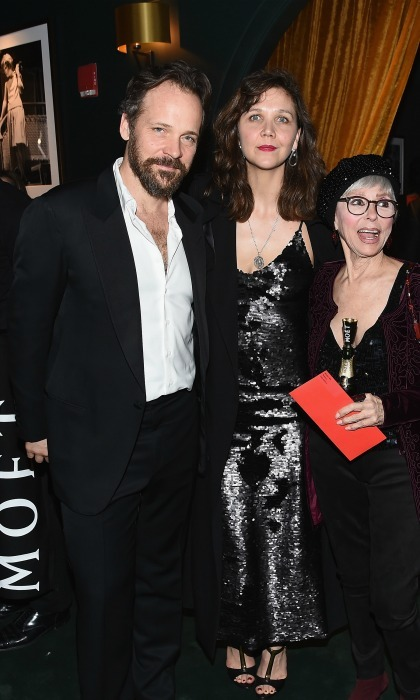 February 23: Peter Sarsgaard, Maggie Gyllenhaal and  Rita Moreno toasted the Hudson Theatre reopening with Moët & Chandon after Jake Gyllenhaal's debut in <i>Sunday in the Park with George</i> in NYC. 