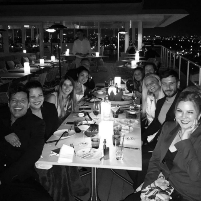 "February 23: Celebration! <a href=""http://us.hellomagazine.com/tags/1/ricky-martin/""><strong>Ricky Martin</strong></a> and his fiance Jwan Yosef enjoyed dinner with friends at Juvia in Miami Beach before having to head to Las Vegas for his residency. 