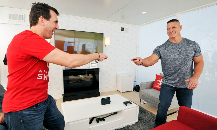 February 23: Game time! John Cena hosted the Nintendo Switch in Unexpected Places at Blue Cloud Movie Ranch in Santa Clarita, California. 
