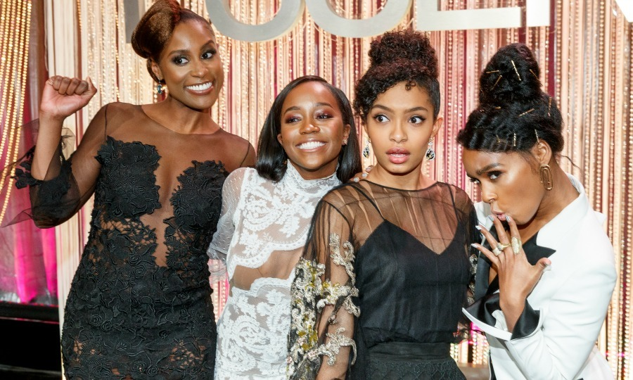 February 23: Award winning ladies Issa Rae, Aja Naomi King, Yara Shahidi and Janelle Monae had some fun during a photo opp at the Essence Black Women in Hollywood Awards at the Beverly Wilshire Four Seasons Hotel in Beverly Hills. 