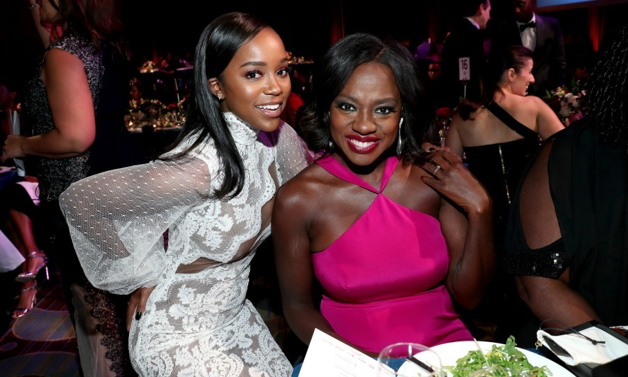 February 23: <i>How to Get Away with Murder</i> stars Viola Davis and Aja Naomi King were all smiles during the Essence Black Women in Hollywood Awards in Beverly Hills. 