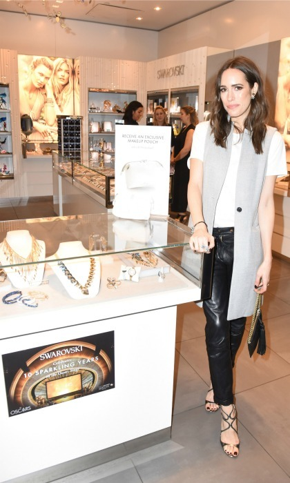 February 22: Bling bling! Louise Roe and Atelier Swarovski   celebrated awards season at the Grove in L.A. 