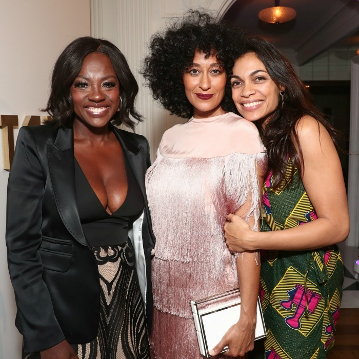 February 22: Girl time! Viola Davis, Tracee Ellis Ross and Rosario Dawson attended the 8th annual Oscar's Sistahs Soiree Presented by Alfre Woodard and Farfetch in Beverly Hills. 