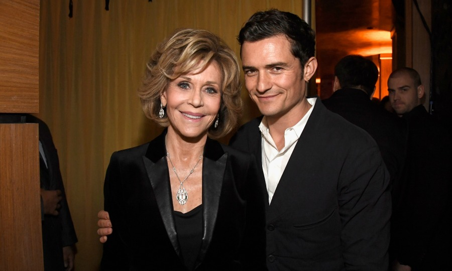 February 22: Celebs for a cause! Jane Fonda and Orlando Bloom attended the 14th annual Global Green Pre Oscar Party at TAO Hollywood. 