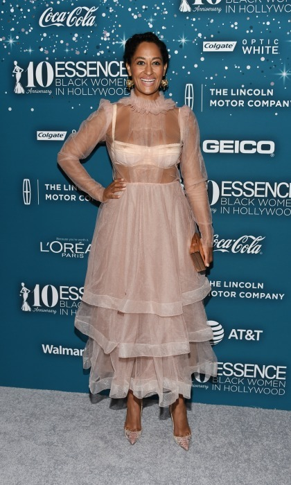 February 23: What a doll! Tracee Ellis Ross wore a blush pink dress by Dolce & Gabbana during the Essence Black Women in Hollywood Awards in Beverly Hills. 