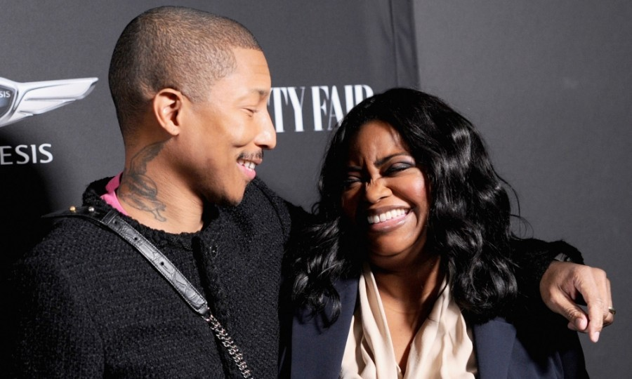 February 24: Happy! Pharrell Williams and Octavia Spencer shared a laugh at the Vanity Fair and Genesis Celebrate <i>Hidden Figures</i> event in L.A. 