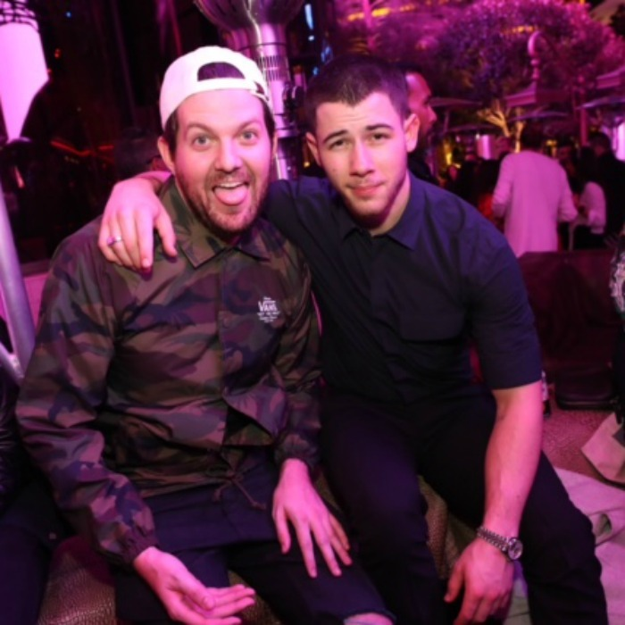 February 25: Live to party! Nick Jonas celebrated the wrap of his series <i>Kingdom</i> with friends at XS Nightclub in Las Vegas. 