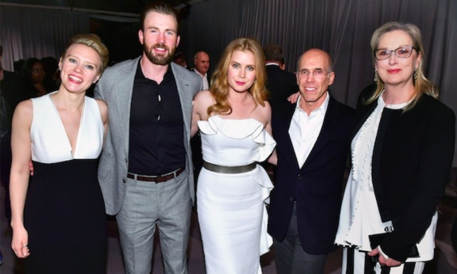 February 25: Kate McKinnon, Chris Evans, Amy Adams and Meryl Streep had some fun at the 5th annual 'Night Before' party to benefit MPTF in L.A. 