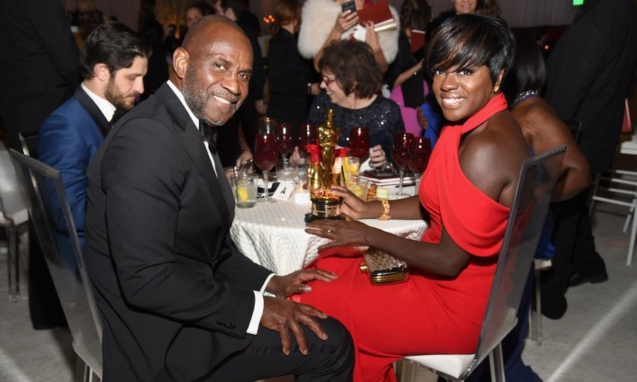 Viola Davis, winner of the award for Actress in a Supporting Role, and actor husband Julius Tennon had some company – her statuette! – at the 89th Annual Academy Awards Governors Ball at Hollywood & Highland Center.