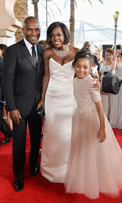 A family affair! Julius Tennon and Viola Davis brought their daughter Genesis to the 23rd Annual Screen Actors Guild Awards in Los Angeles.