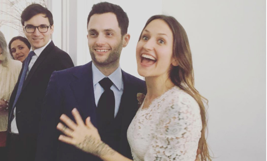 <b>Penn Badgley and Domino Kirke</b>