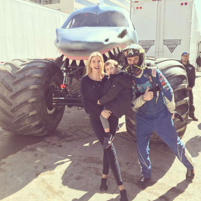 "The mom-of-three enjoyed a first with her children in D.C.! ""Epic first Monster Truck show with the kids! #MonsterJam @monsterjamlive,"" she captioned a photo of herself with Joseph posing in front of a monster truck.