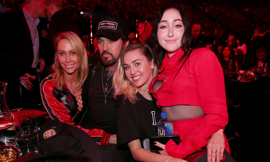 March 5: Noah Cyrus, 17, got some family support from mom and dad Tish and Billy Ray Cyrus, and of course big sister Miley Cyrus for her stage debut at the 2017 iHeartRadio Music Awards.
