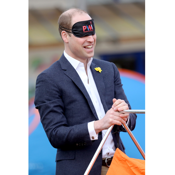 "<a href=""http://us.hellomagazine.com/tags/1/prince-william/""><strong>Prince William</strong></a> found himself pitching a tent blindfolded, as he participated in activities for the SkillForce Prince William Award launch in Wales. While being blindfolded for a trust exercise, the Duke said, ""It's nice to be here in the sunshine.""