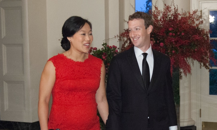 <b>Mark Zuckerberg and Priscilla Chan</b>