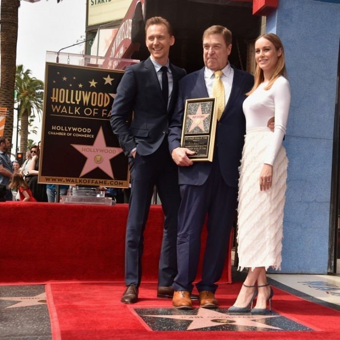 March 10: John Goodman was joined by his <i>Kong</i> co-stars, Tom Hiddleston and Brie Larson, as he was honored with the 2,604th Star on The Hollywood Walk of Fame in California. 