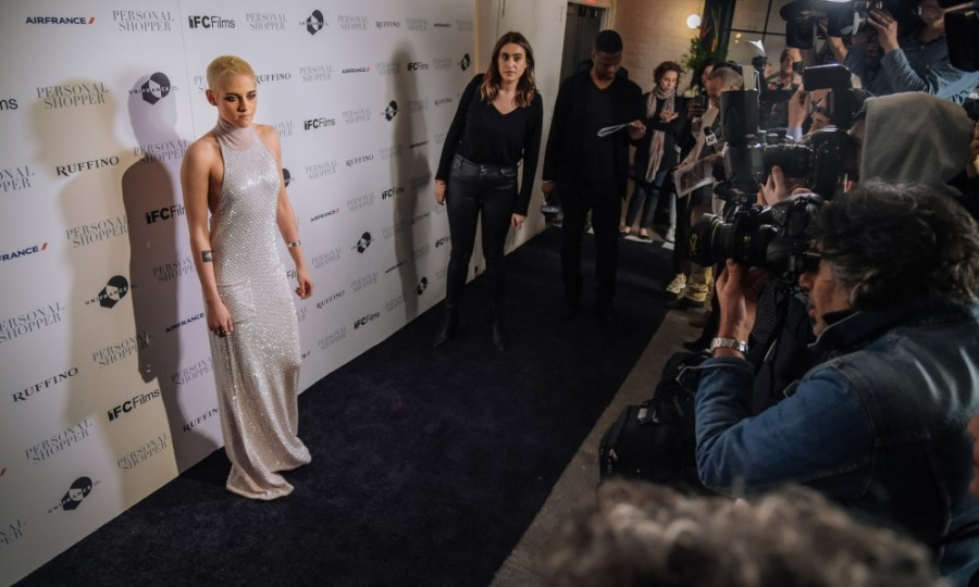 March 9: Kristen Stewart looked ethereal at a screening of her film <i>Personal Shopper</i> in NYC. Ruffino Wines presented the event at the Metrograph, where Kristen debuted rockin' platinum hair.