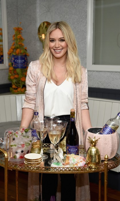 March 7: Hostess with the mostess! Hilary Duff was all smiles at the Callie Collection Wines launch event at La Sirena in NYC. The 29-year-old star looked beautiful in a <i>Raquel Allegra</i> jacket and <i>Mother</i> jeans as she celebrated the brand's debut.