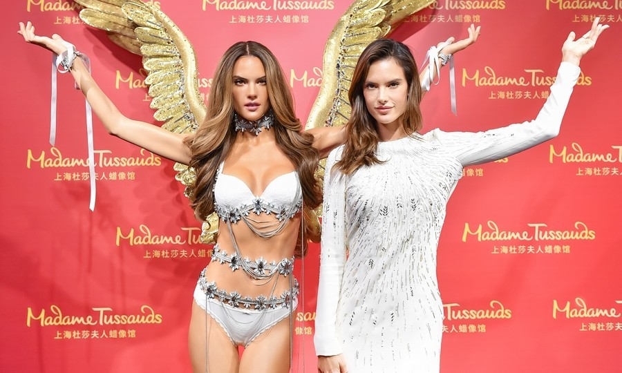 March 6: Double angels! Alessandra Ambrosio unveiled her Madame Tussauds wax-figure in Shangai, China. The figure is dressed in the iconic Victoria's Secret Fashion Show wings.