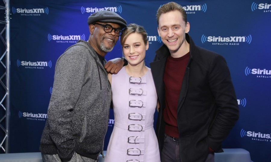 March 6: The stars of <i>Kong: Skull Island</i> stopped by for a SiriusXM Town Hall special in NYC! Samuel L. Jackson, Brie Larson and Tom Hiddleston talked their epic film up in what was part of a worldwide press tour.