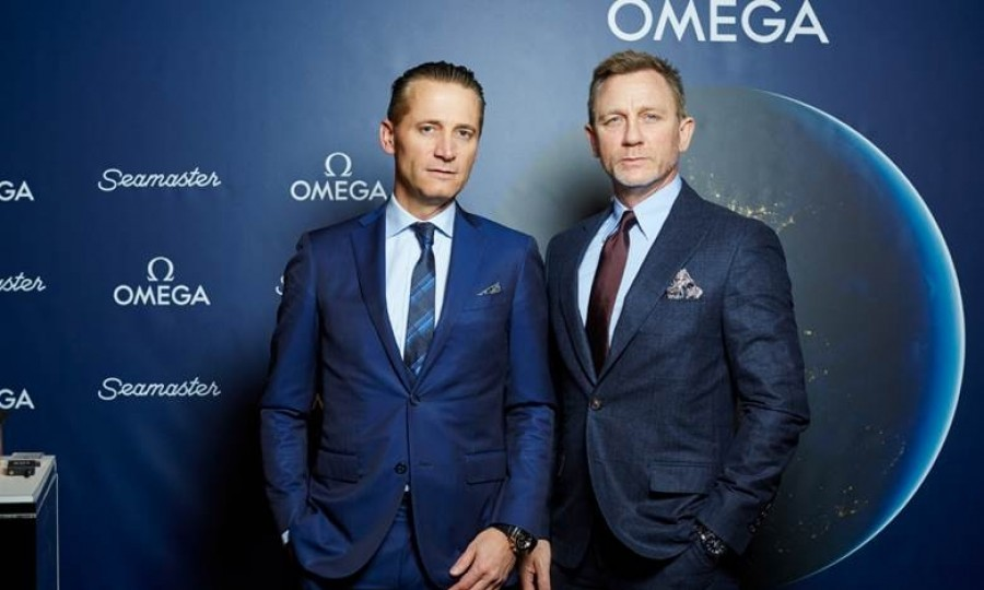 March 9: Timeless! Daniel Craig, seen here with OMEGA CEO Raynald Aeschlimann, joined VIP guests at the Beekman Hotel in NYC for a private dinner and discussion. The dinner aimed to celebrate the history of the OMEGA Seamaster collection. Daniel, an avid watch collector, wore an OMEGA Seamaster 300 for this exclusive occasion.