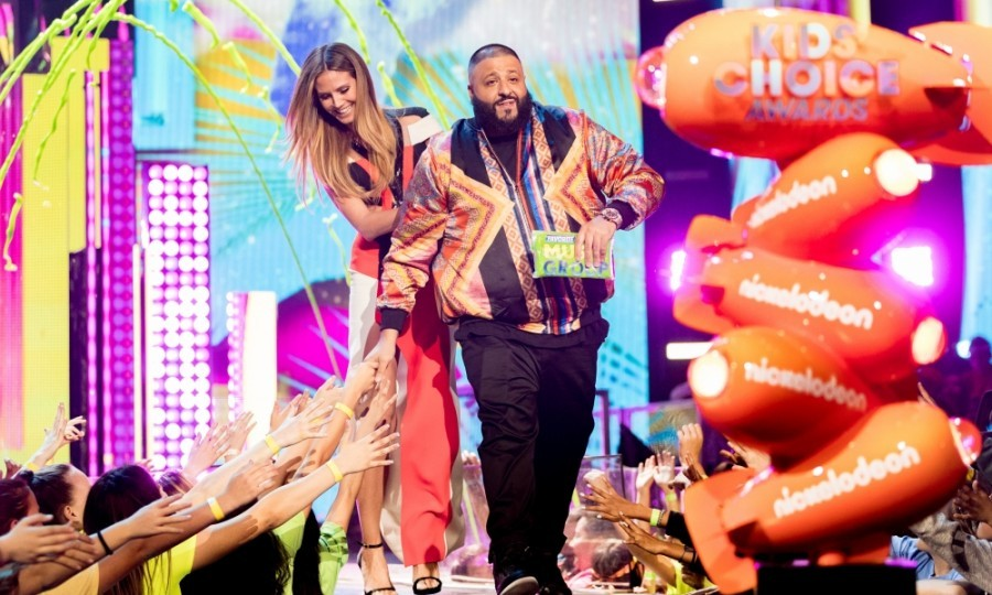 March 11: Watch out for the slime! Heidi Klum and DJ Khaled were among the stars who greeted fans at the Kids' Choice Awards in L.A.