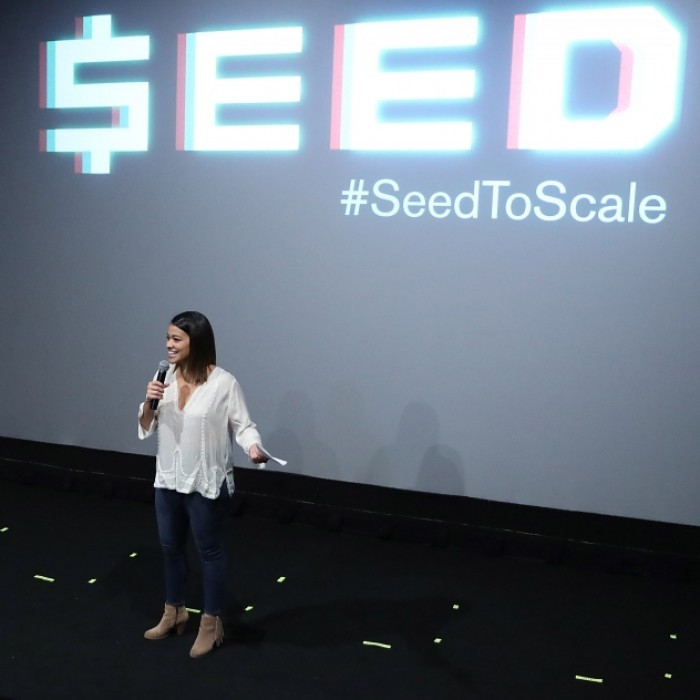 March 11: Gina Rodriguez hosted the premiere of the feature documentary <i>Seed</i> at the Violet Crown theater in Austin, TX. The film was directed by Andrew Wonder, produced in partnership with AngelHack (the world's largest and most diverse hacker community) and was funded with financial support from Hewlett Packard Enterprise (HPE).