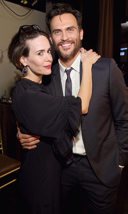 March 11: <I>American Horror Story</I>'s Sarah Paulson and Cheyenne Jackson were among the invitees at the Family Equality Council's Impact Awards at the Beverly Wilshire Hotel.