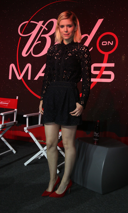 March 11: <i>The Martian</i> actress Kate Mara joined Budweiser at the SXSW Interactive Festival on Saturday March 11 to unveil the brand's long-term commitment to be the first beer on Mars.