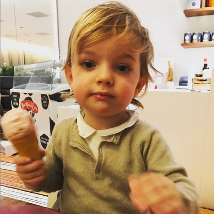 In March 2017, the little Prince enjoyed a pre-spring ice cream treat in this snap shared by his mom Princess Madeleine on Facebook.