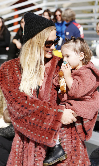 March 11: Ashlee Simpson Ross cuddled up to daughter Jagger as they cheered on Evan Ross in Operation Smile's 6th Annual Celebrity Ski and Smile Challenge presented by the Rodosky Family in Park City, Utah.