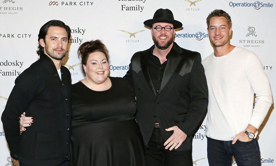 March 11: <i>This is Us</i> co-stars Milo Ventimiglia, Chrissy Metz, Chris Sullivan and Justin Hartley made their way to Park City for the Operation Smile Challenge.